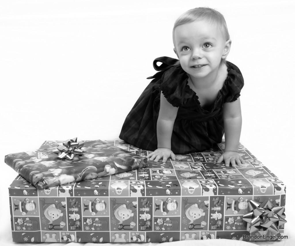 Skyla Posing on a Gift
